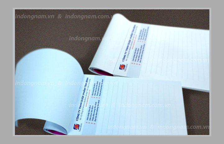 thiết kế và in sổ tay, in sổ note