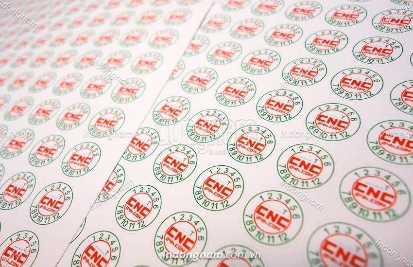In tem bảo hành hình tròn