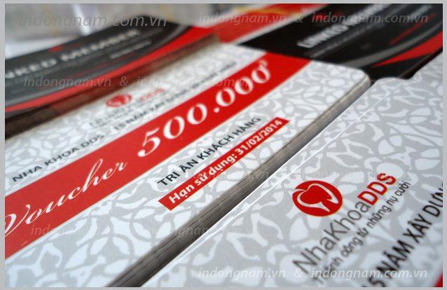 in thẻ giảm giá, in voucher phiếu quà tặng