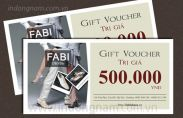 In thẻ quà tặng cho shop thời trang Fabi