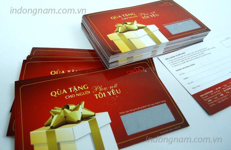 in thẻ quà tặng, in phiếu quà tặng