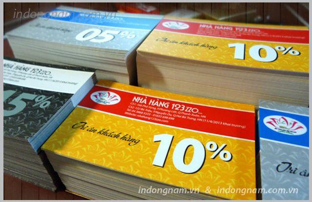 In thẻ giảm giá voucher quà tặng