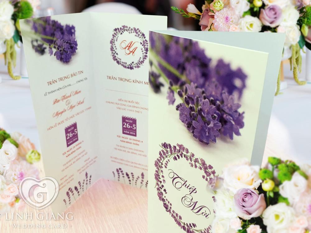 Mẫu thiết kế thiệp cưới đẹp Linh Giang Wedding