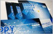 In thiệp chúc mừng năm mới salon ô tô Mazda