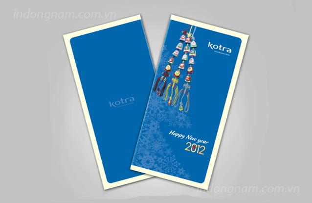 Thiết kế thiệp, in thiệp chúc mừng năm mới