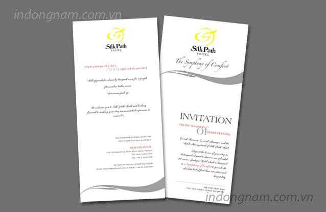 thiết kế in thiệp mời khai trương khách sạn