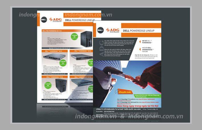 Thiết kế và in tờ rơi công ty ADG