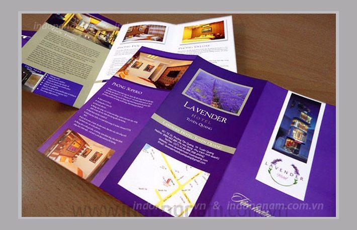 Thiết kế tờ gấp, in tờ gấp brouchure khách sạn Lavender