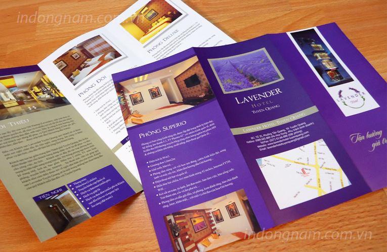 Thiết kế tờ rơi, in tờ rơi khách sạn Lavender