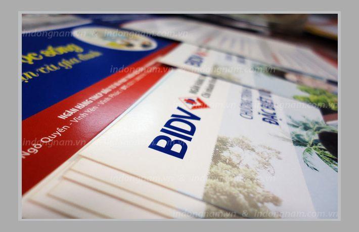 in tờ rơi ngân hàng BIDV
