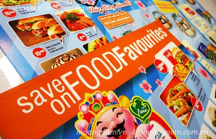 thiết kế in tờ rơi siêu thị