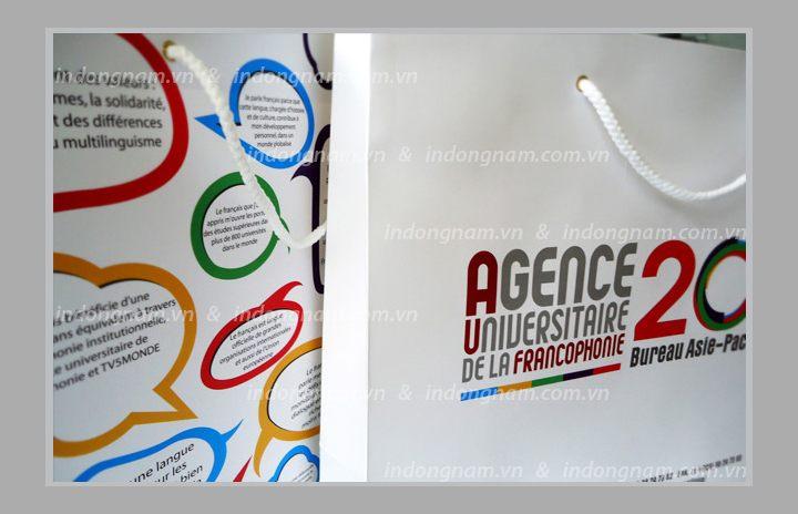 in túi giấy trung tâm đào tạo tiếng Pháp