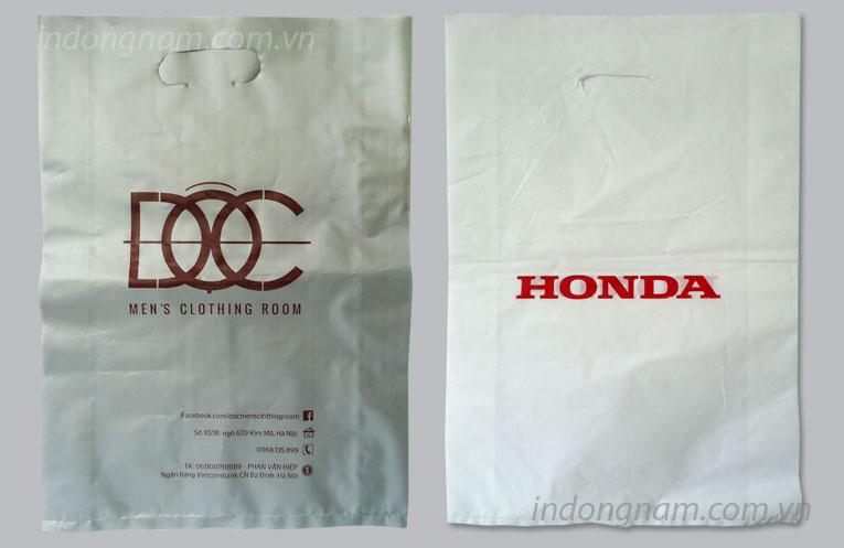 in túi nilon cho công ty Honda