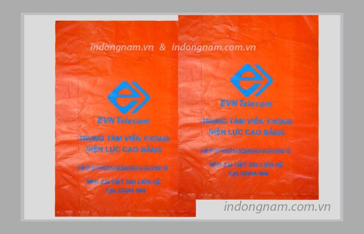 in túi ni lông điện lực - EVN màng HD màu đỏ