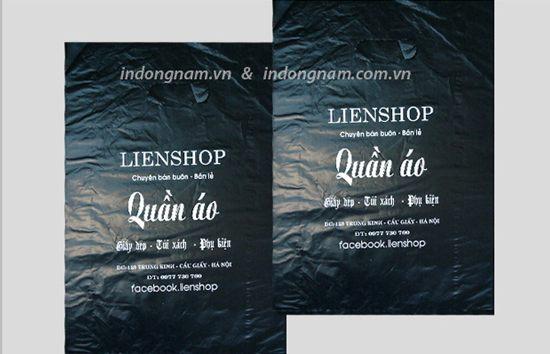 in túi nilon cho shop quần áo màng HD màu đen