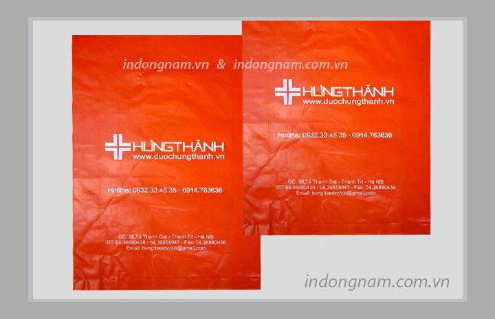 in túi ni lông công ty dược phẩm - màng HD màu đỏ