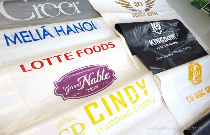 in túi nilon đựng quà tặng cho công ty, shop quần áo