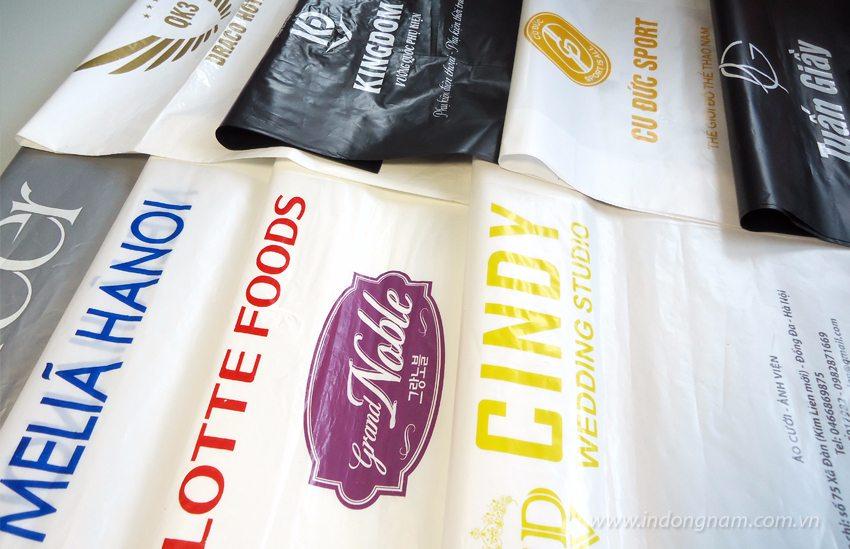 in túi nilon cho shop quần áo, khách sạn, nhà hàng