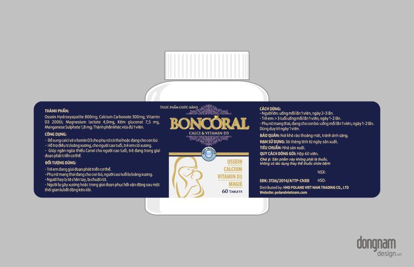 thiết kế vỏ hộp bao bì dược phẩm boncoral