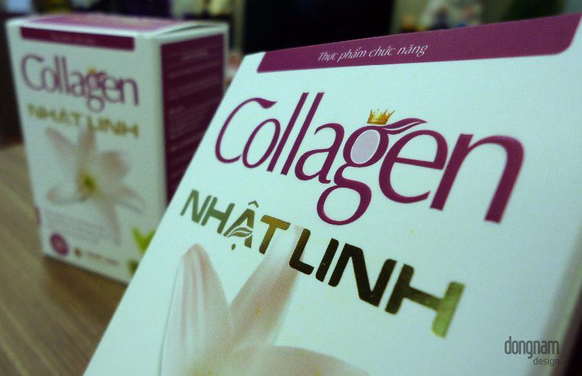 thiết kế bao bì vỏ hộp collagen nhật linh