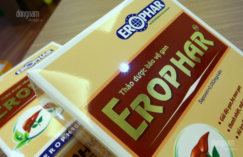 thiết kế bao bì thuốc bổ gan erophar