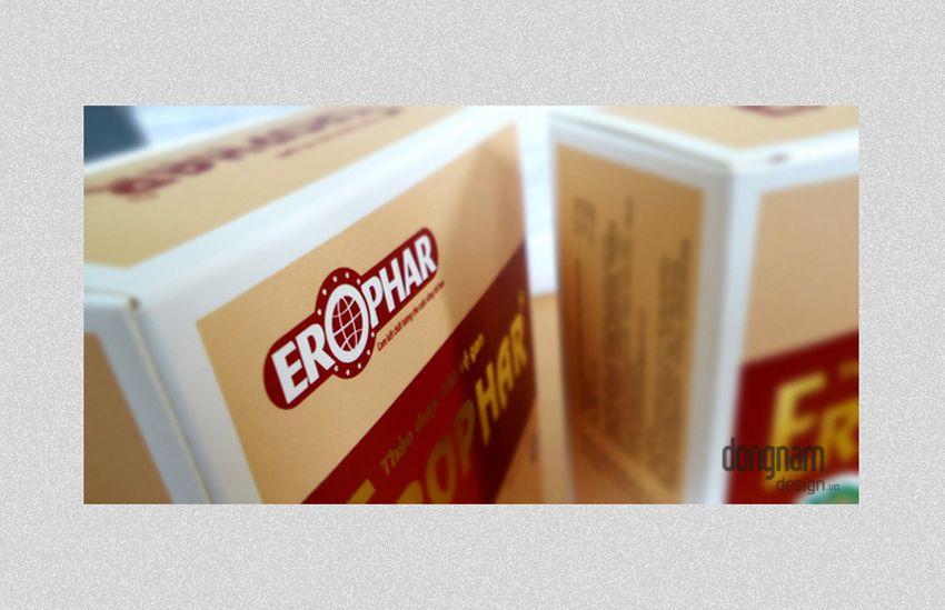thiết kế vỏ hộp thuốc bổ gan erophar