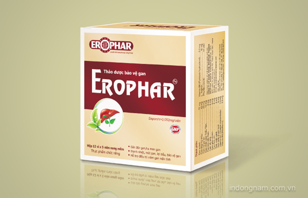 thiết kế bao bì vỏ hộp thuốc bổ gan erophar