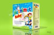 Thiết kế bao bì vỏ hộp thực phẩm chức năng Heznimet baby
