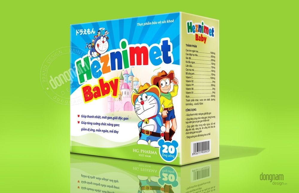 thiết kế bao bì vỏ hộp mát gan cho trẻ em