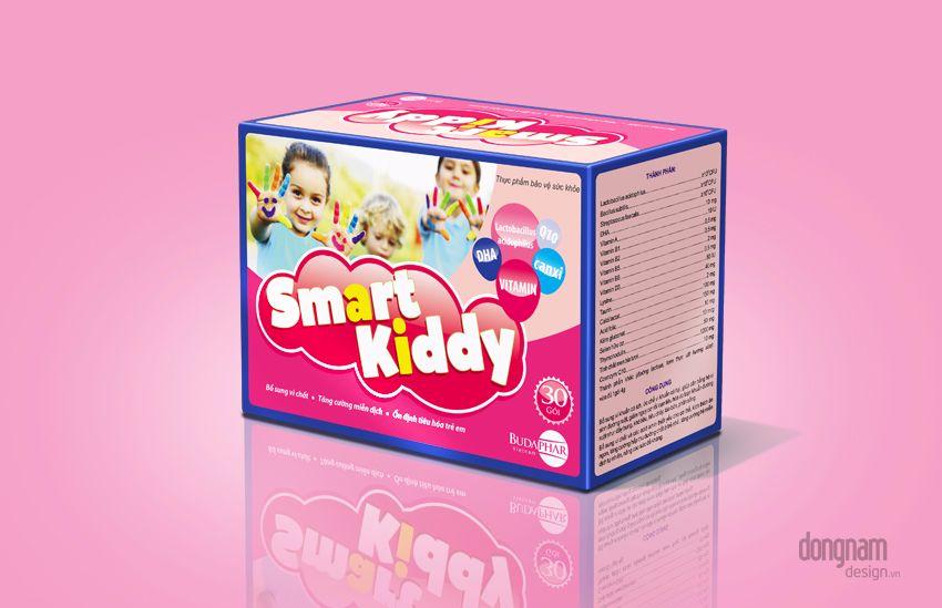 thiết kế bao bì vỏ hộp cốm trẻ em smart kiddy
