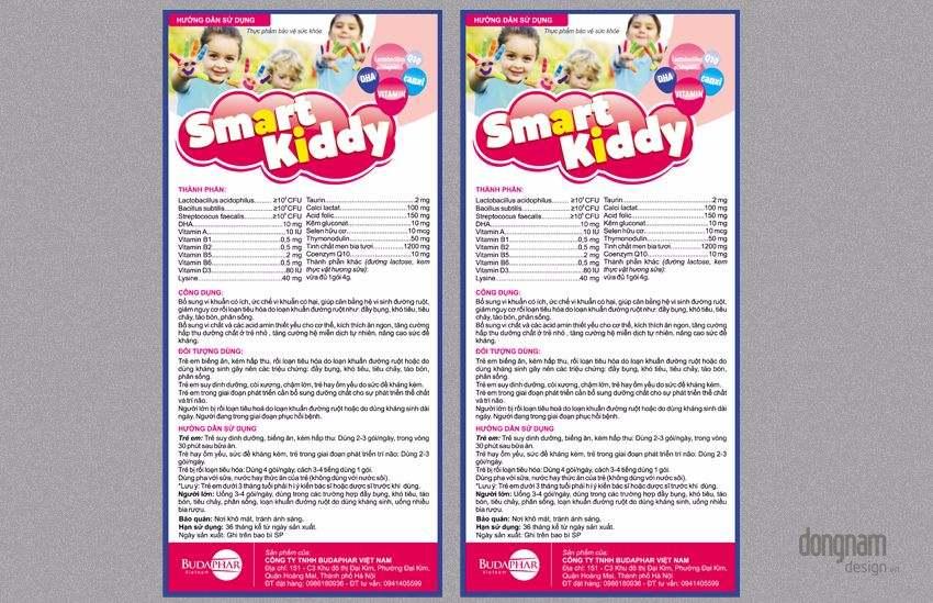 thiết kế hướng dẫn sử dụng cốm trẻ em smart kiddy