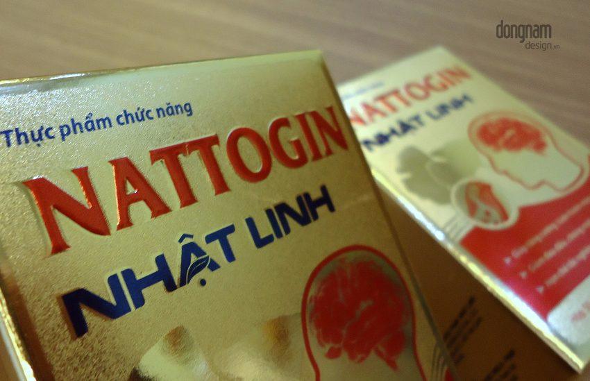 thiết kế bao bì vỏ hộp thuốc bổ não Nattogin