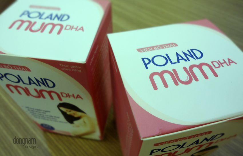 thiết kế bao bì vỏ hộp thực phẩm chức năng poland mum