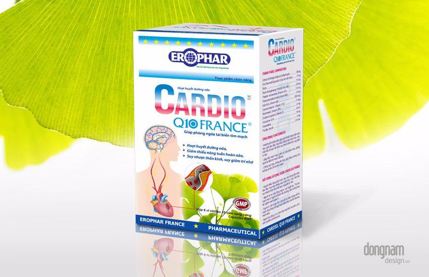 Thiết kế vỏ hộp thực phẩm chức năng bổ não Cardio Q10