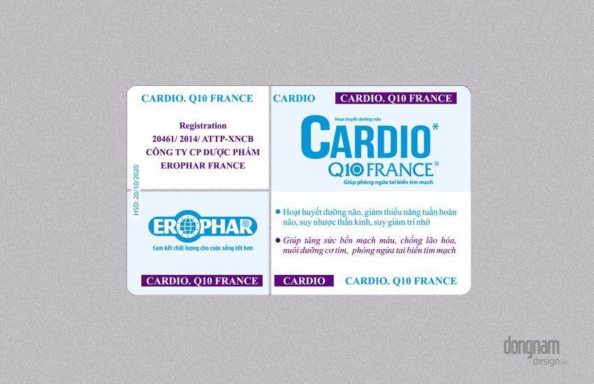 Thiết kế màng vỉ thực phẩm chức năng bổ não Cardio Q10
