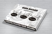 Thiết kế bao bì vỏ hộp carton Sign Board