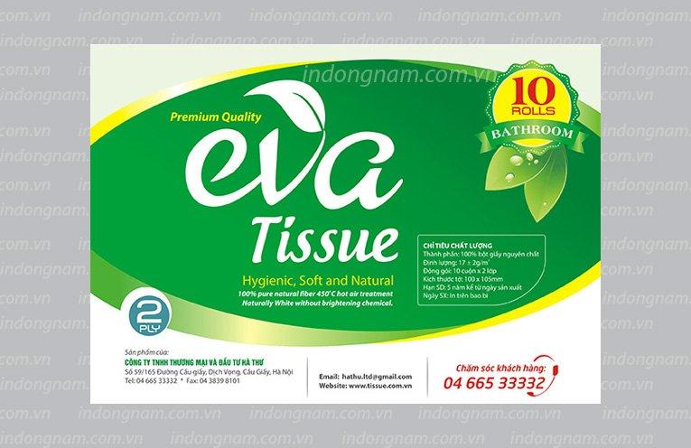 thiết kế nhãn mác bao bì túi giấy vệ sinh