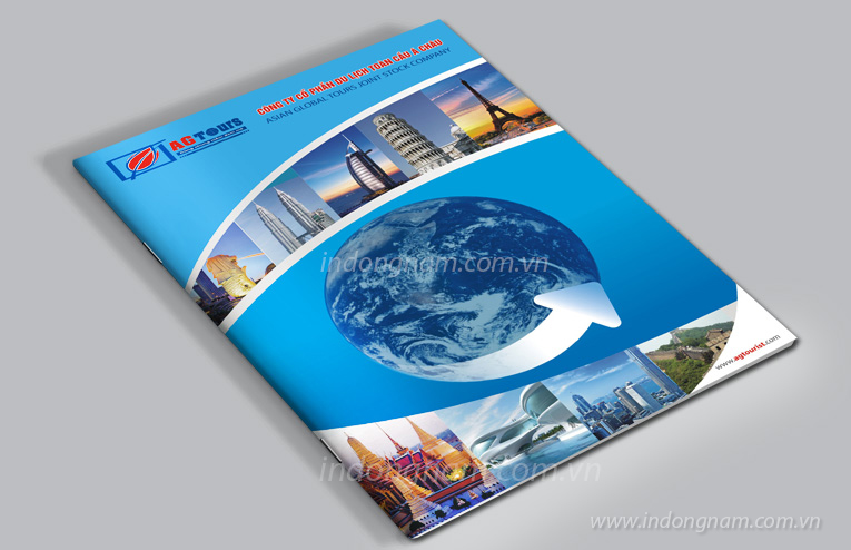 thiết kế catalogue công ty du lịch AG tours