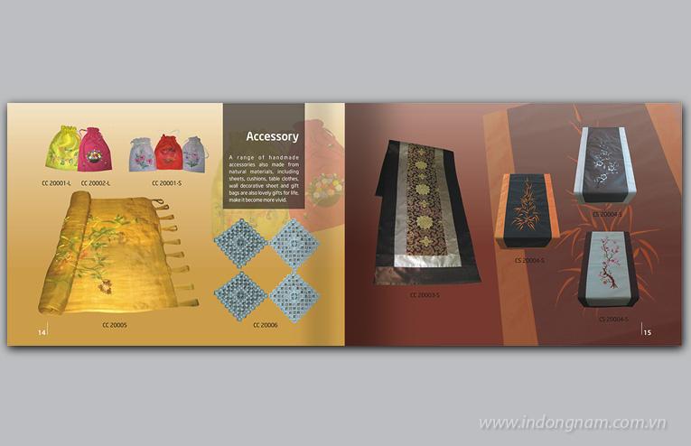 thiết kế catalogue giới thiệu sản phẩm nghệ thuật
