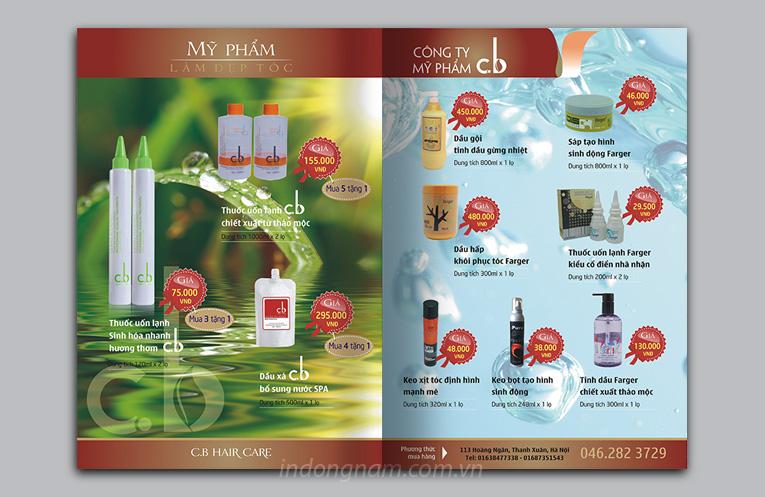 thiết kế catalogue quảng cáo mỹ phẩm