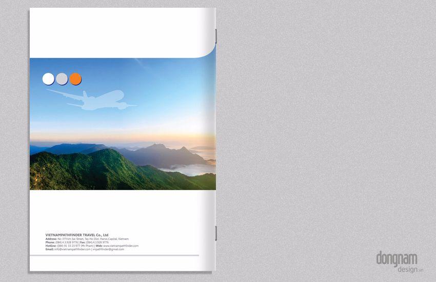 thiết kế catalogue giới thiệu tour du lịch