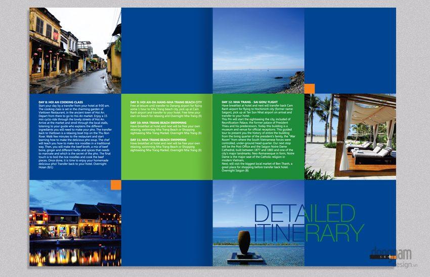 thiết kế catalogue quảng cáo tour du lịch