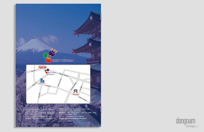 thiết kế catalogue công ty Eikoh