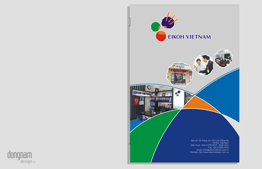 thiết kế catalogue, hồ sơ năng lực Eikoh