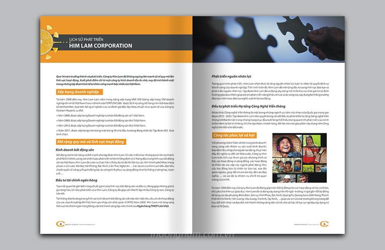 thiết kế catalogue, hồ sơ năng lực, profile