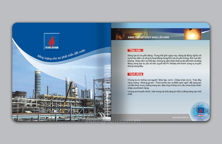 thiết kế brochure công ty truyền thông dầu khí pvmedia