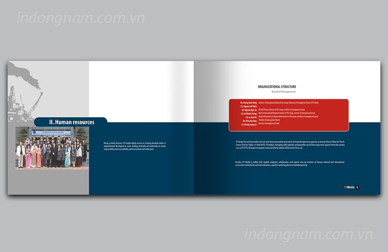 Thiết kế catalogue công ty truyền thông sự kiện