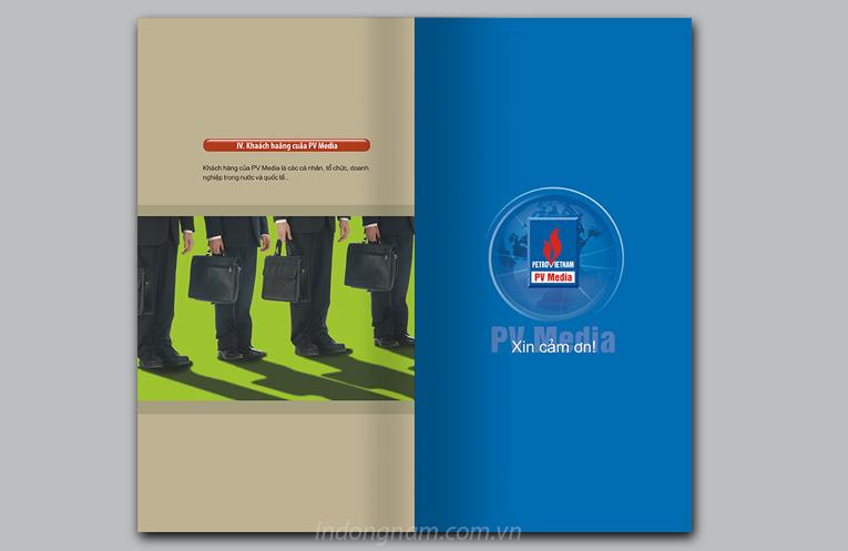 thiết kế catalogue công ty truyền thông dầu khí