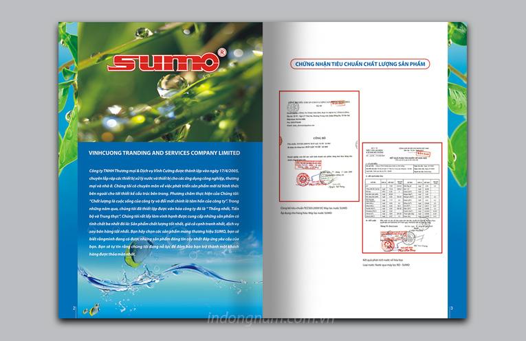 thiết kế catalogue máy lọc nước sumo