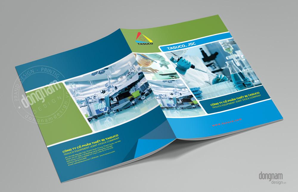 thiết kế catalogue thiết bị y tế, phòng thí nghiệm